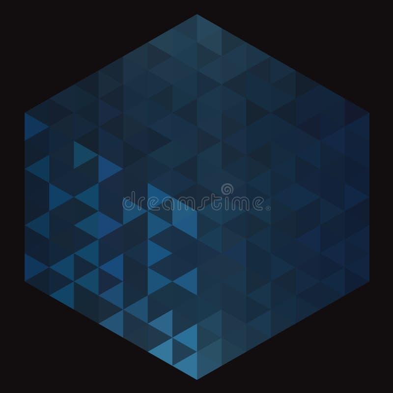Αφηρημένο μπλε υπόβαθρο με τα τρίγωνα στοκ εικόνα με δικαίωμα ελεύθερης χρήσης