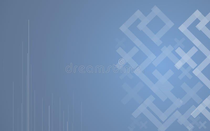 Αφηρημένο μπλε υπόβαθρο υψηλής τεχνολογίας μωσαϊκών διάνυσμα διανυσματική απεικόνιση