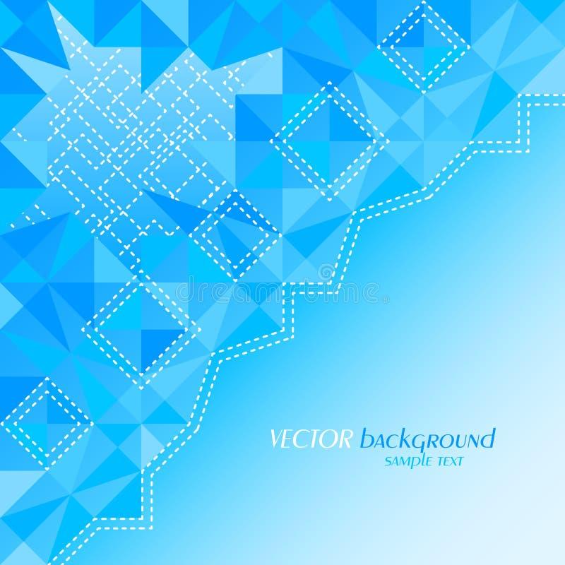 Αφηρημένο μπλε υπόβαθρο χρώματος με τη θέση για το κείμενό σας ελεύθερη απεικόνιση δικαιώματος
