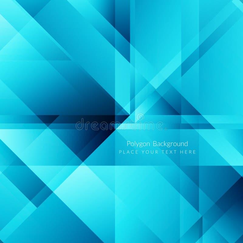 Αφηρημένο μπλε polygonal υπόβαθρο χρώματος διανυσματική απεικόνιση