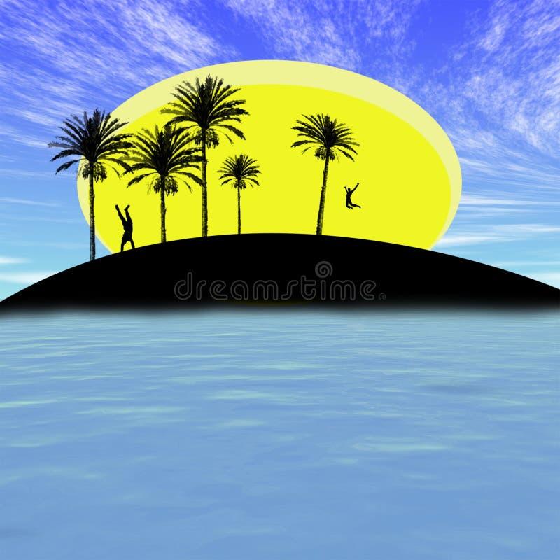 αφηρημένο νησί διανυσματική απεικόνιση