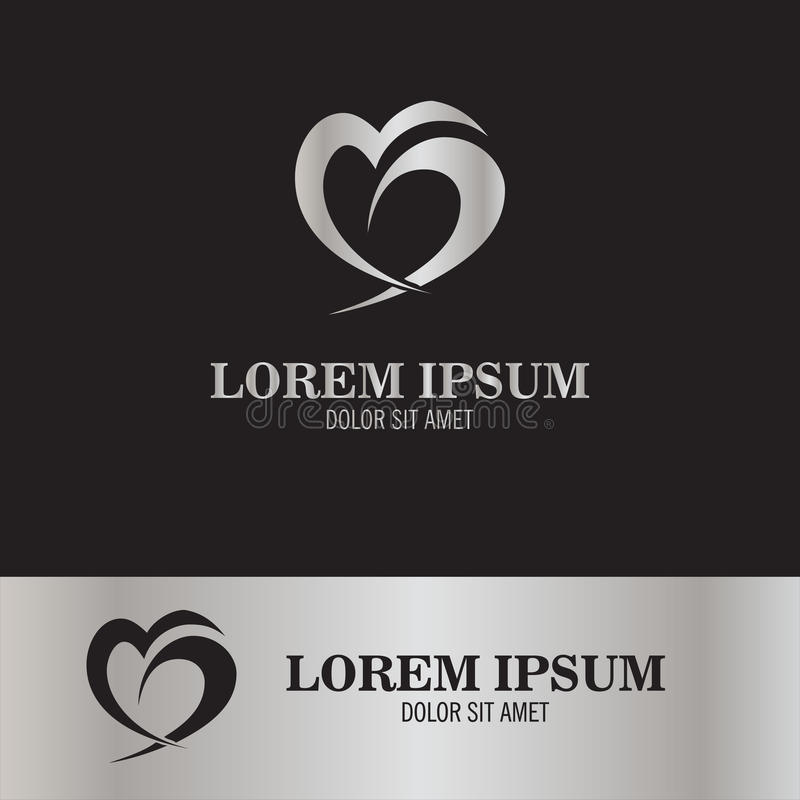 Αφηρημένο λογότυπο αγάπης διανυσματική απεικόνιση