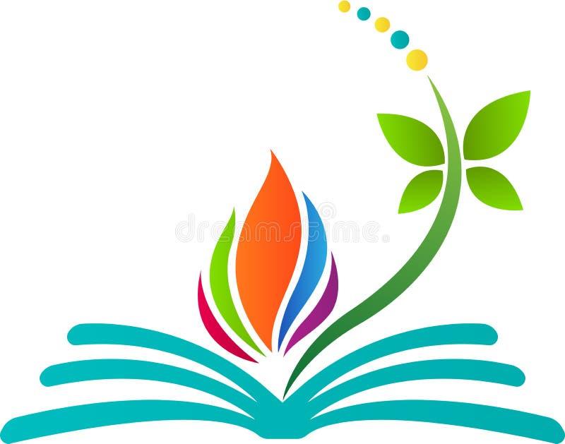 Αφηρημένο λογότυπο βιβλίων διανυσματική απεικόνιση