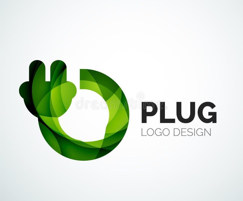 Αφηρημένο λογότυπο - εικονίδιο βουλωμάτων διανυσματική απεικόνιση
