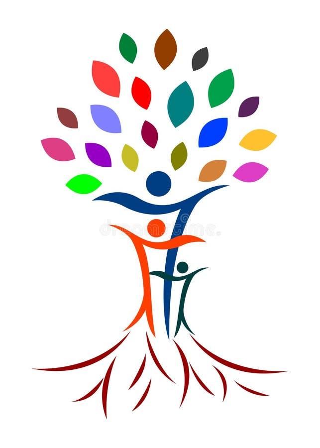 αφηρημένο οικογενειακό δέντρο διανυσματική απεικόνιση