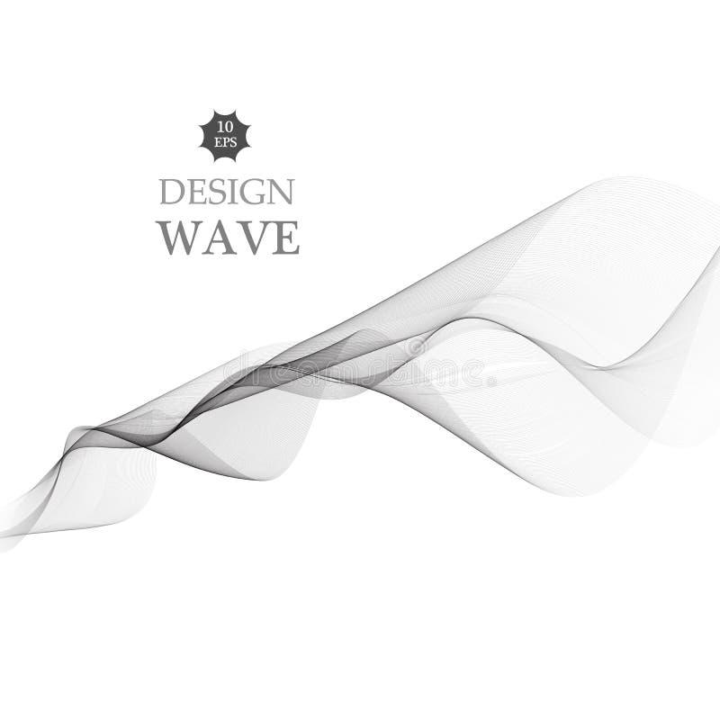 Αφηρημένο ομαλό γκρίζο διάνυσμα κυμάτων Γκρίζα απεικόνιση κινήσεων ροής καμπυλών απεικόνιση αποθεμάτων