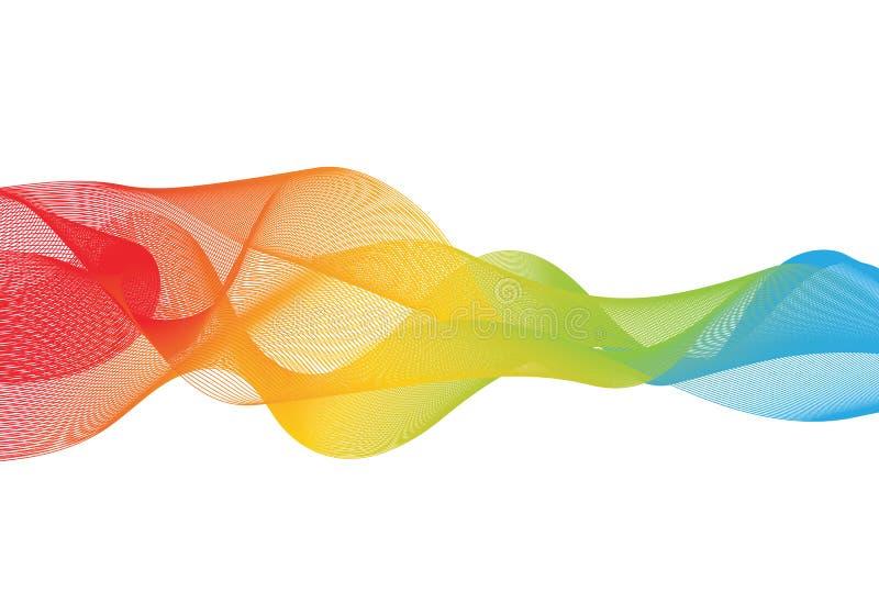 Αφηρημένο ομαλό διάνυσμα κυμάτων χρώματος ελεύθερη απεικόνιση δικαιώματος