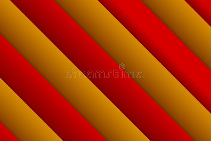 αφηρημένο ορθογώνιο ανασ& Σκηνικό από κόκκινος και χρυσός στοκ εικόνα