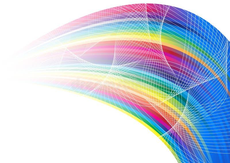 αφηρημένο ουράνιο τόξο εμβ& διανυσματική απεικόνιση