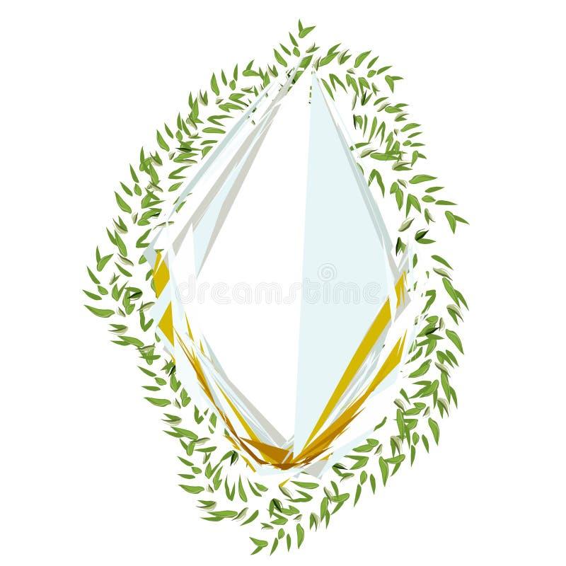 Αφηρημένο πλαίσιο με τα φύλλα για το σχέδιο τυπωμένων υλών Διανυσματικό floral υπόβαθρο ελεύθερη απεικόνιση δικαιώματος