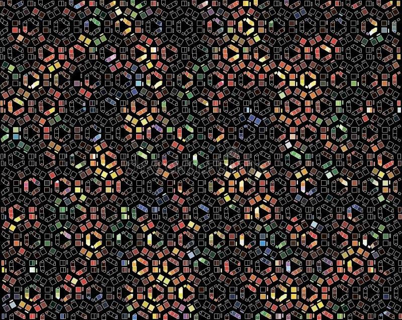 Αφηρημένο πολύχρωμο υπόβαθρο των κομματιών του χρωματισμένου γυαλιού απεικόνιση αποθεμάτων