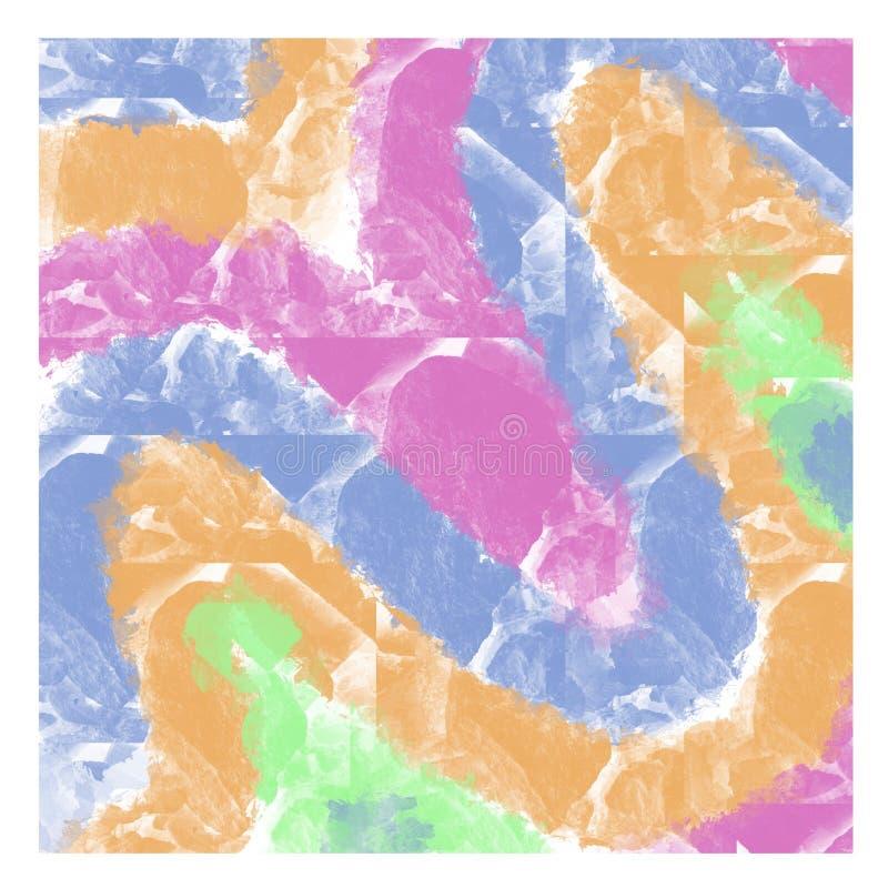 """Αφηρημένο πολύχρωμο φόντο υδάτινων χρωμάτων με πέτρινη υφή με χρωμαÏ""""Î¹Ï ελεύθερη απεικόνιση δικαιώματος"""