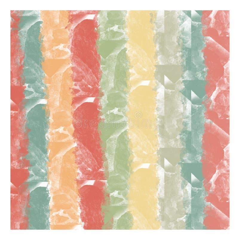 """Αφηρημένο πολύχρωμο φόντο υδάτινων χρωμάτων με πέτρινη υφή με χρωμαÏ""""Î¹Ï διανυσματική απεικόνιση"""