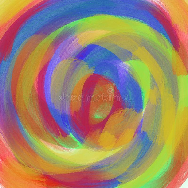 Αφηρημένο πολύχρωμο φόντο υδροχρώματος. Περιγράμματα πινελιών χρώματΠελεύθερη απεικόνιση δικαιώματος