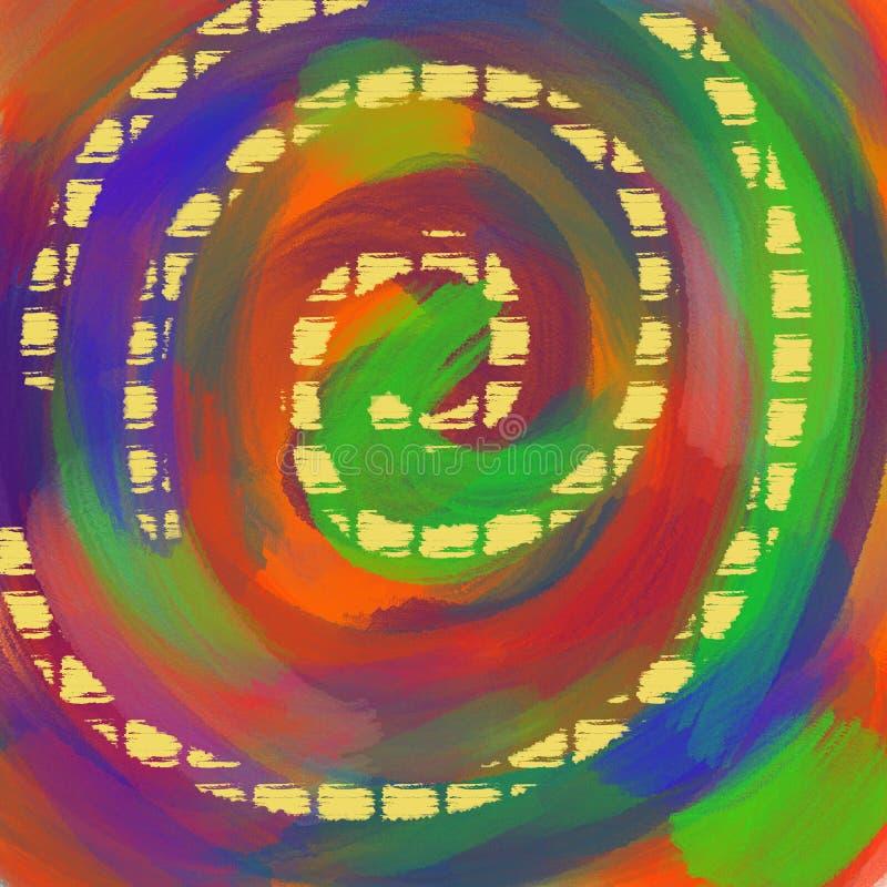 Αφηρημένο πολύχρωμο φόντο υδροχρώματος. Περιγράμματα πινελιών χρώματΠαπεικόνιση αποθεμάτων