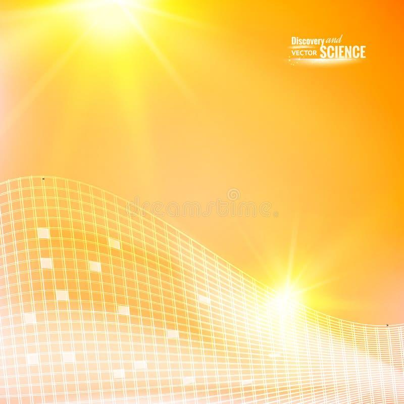 αφηρημένο πορτοκάλι ανασκόπησης διανυσματική απεικόνιση