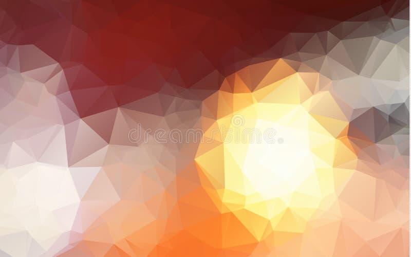 Αφηρημένο πορτοκαλί άσπρο και κόκκινο Polygonal υπόβαθρο μωσαϊκών, διανυσματική απεικόνιση, δημιουργικά πρότυπα επιχειρησιακού σχ απεικόνιση αποθεμάτων