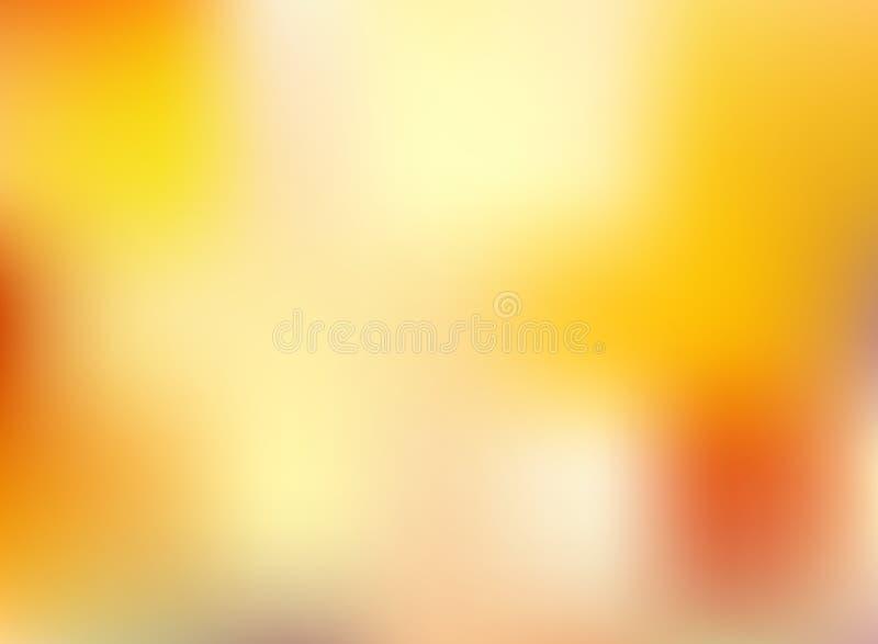 Αφηρημένο πορτοκαλί και κίτρινο φωτεινό θολωμένο χρώμα BA εποχής φθινοπώρου απεικόνιση αποθεμάτων