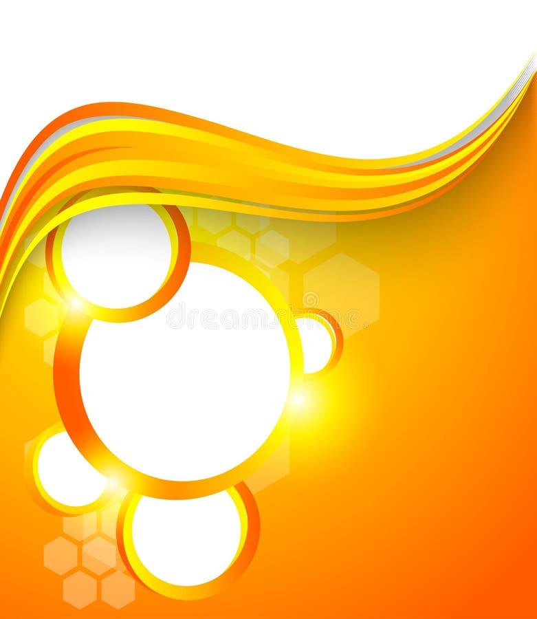 Αφηρημένο πορτοκαλί φυλλάδιο ελεύθερη απεικόνιση δικαιώματος