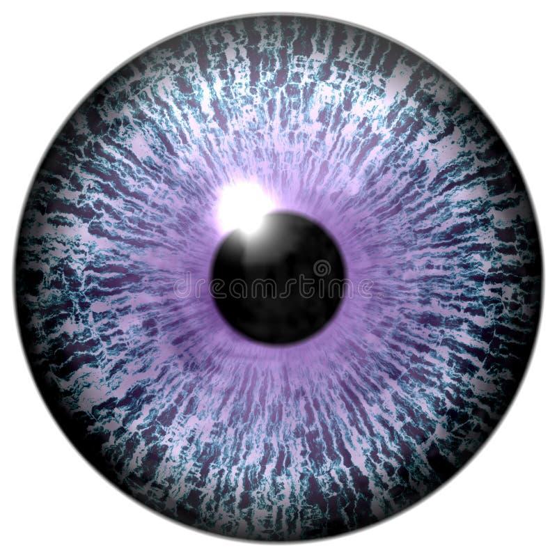 Αφηρημένο πορφυρό μάτι στο λευκό ελεύθερη απεικόνιση δικαιώματος
