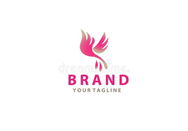 Αφηρημένο πουλί - διανυσματική απεικόνιση έννοιας προτύπων λογότυπων Δημιουργικό σημάδι φτερών : ελεύθερη απεικόνιση δικαιώματος