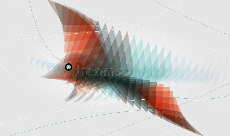Download αφηρημένο πουλί διανυσματική απεικόνιση. εικονογραφία από μπούκλα - 17058081