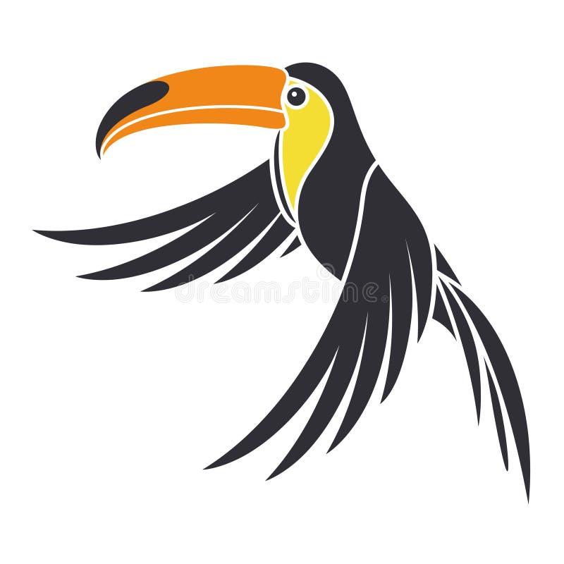 Αφηρημένο πουλί διανυσματική απεικόνιση