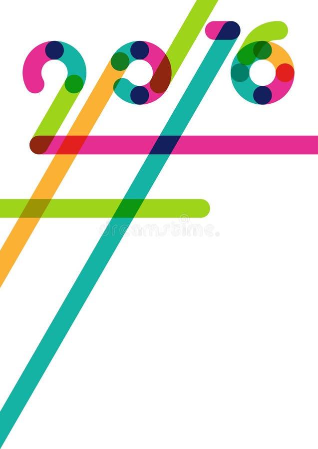 Αφηρημένο πολύχρωμο νέο υπόβαθρο έτους 2016 με τη θέση για το κείμενο απεικόνιση αποθεμάτων