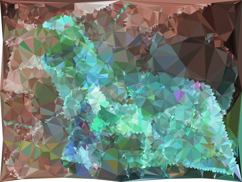 Αφηρημένο πολύχρωμο σκηνικό μωσαϊκών Τέχνη συνδετήρων ράστερ ελεύθερη απεικόνιση δικαιώματος