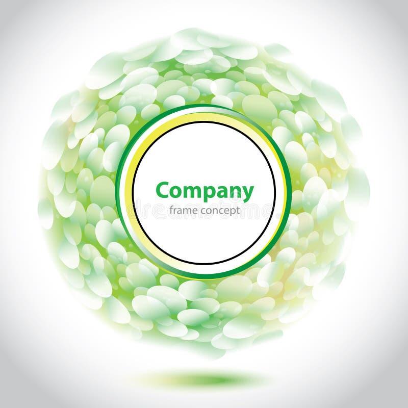Αφηρημένο πράσινος-άσπρο στοιχείο για την επιχείρηση διανυσματική απεικόνιση