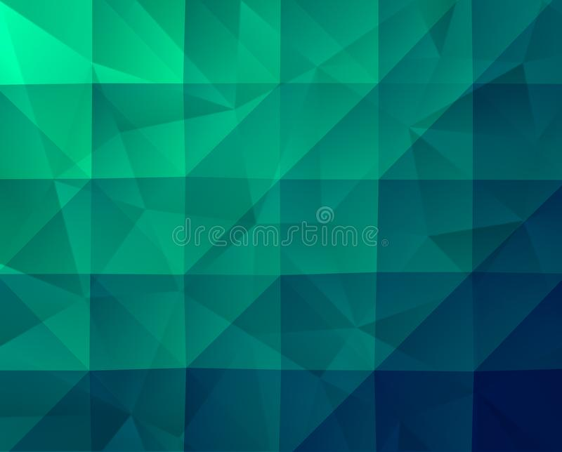 Αφηρημένο πράσινο γεωμετρικό υπόβαθρο με Fractal τη σύσταση διανυσματική απεικόνιση