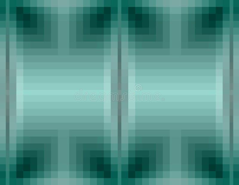 Αφηρημένο πράσινο, γκρίζο υπόβαθρο Ελεγμένο σχέδιο από το τετράγωνο διανυσματική απεικόνιση