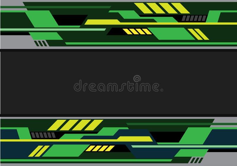 Αφηρημένο πράσινο κίτρινο γκρίζο φουτουριστικό τεχνολογίας διάνυσμα υποβάθρου σχεδίου σύγχρονο απεικόνιση αποθεμάτων