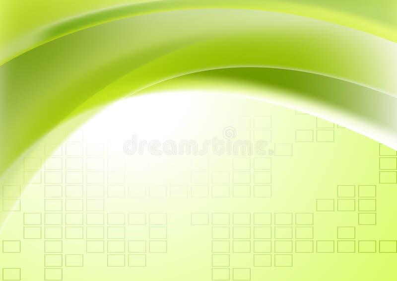 Αφηρημένο πράσινο κυματιστό γεωμετρικό τεχνικό υπόβαθρο διανυσματική απεικόνιση