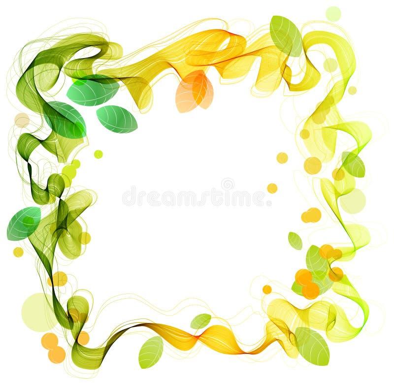 αφηρημένο πράσινο κύμα φύλλων κίτρινο απεικόνιση αποθεμάτων