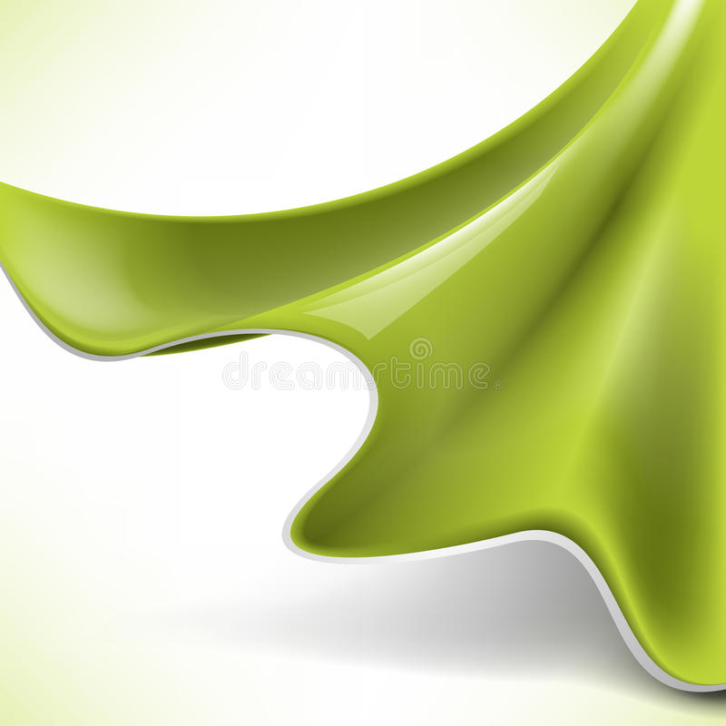 αφηρημένο πράσινο μετάξι ένν&omicron απεικόνιση αποθεμάτων