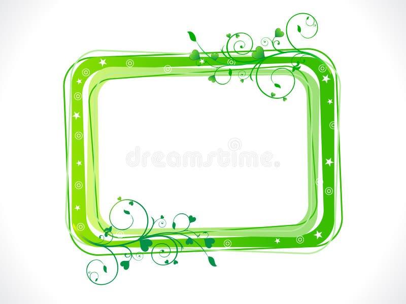 αφηρημένο πράσινο πρότυπο πλαισίων eco floral ελεύθερη απεικόνιση δικαιώματος