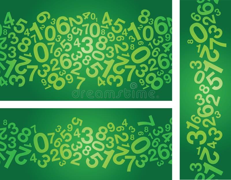 Αφηρημένο πράσινο υπόβαθρο αριθμού ελεύθερη απεικόνιση δικαιώματος