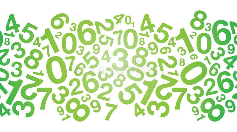 Αφηρημένο πράσινο υπόβαθρο αριθμού απεικόνιση αποθεμάτων