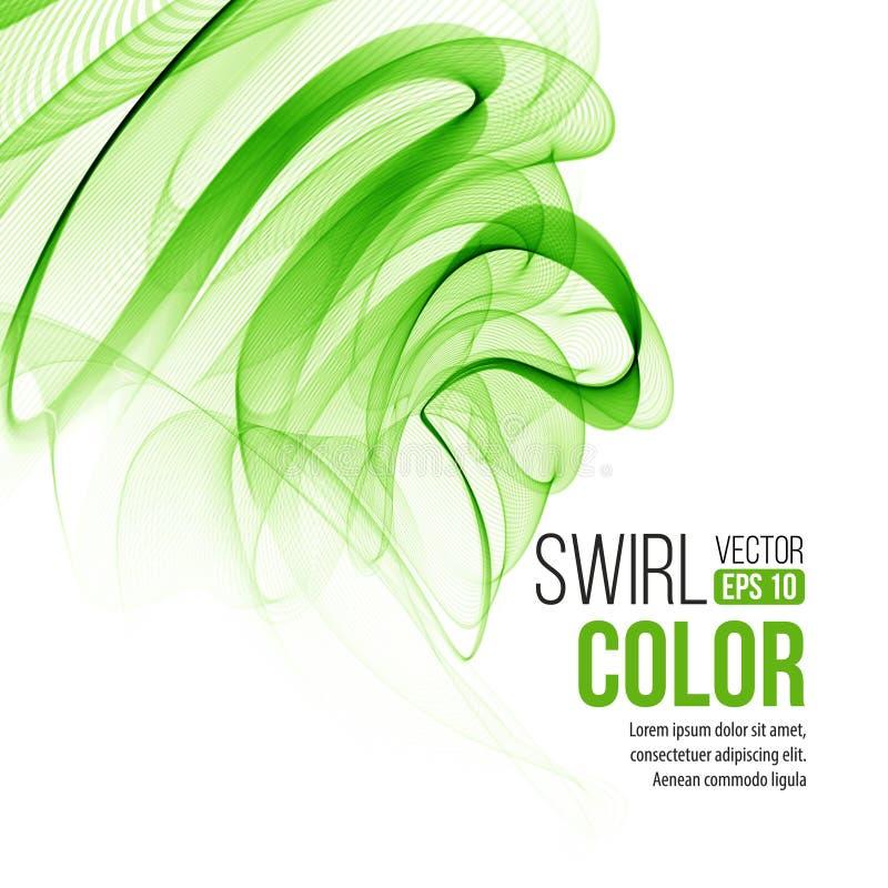 Αφηρημένο πράσινο υπόβαθρο στροβίλου διάνυσμα διανυσματική απεικόνιση