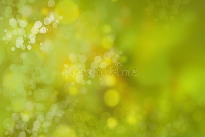 Αφηρημένο πράσινο φως και κίτρινο ζωηρόχρωμο θερινό bokeh υπόβαθρο διανυσματική απεικόνιση