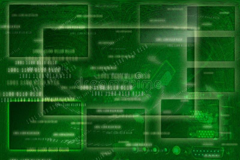 αφηρημένο πράσινο ύφος πλαισίων ανασκόπησης ψηφιακό ελεύθερη απεικόνιση δικαιώματος