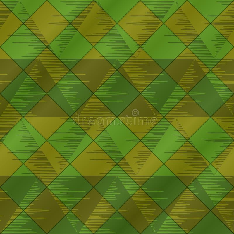 αφηρημένο πράσινο plaid άνευ ραφής απεικόνιση αποθεμάτων