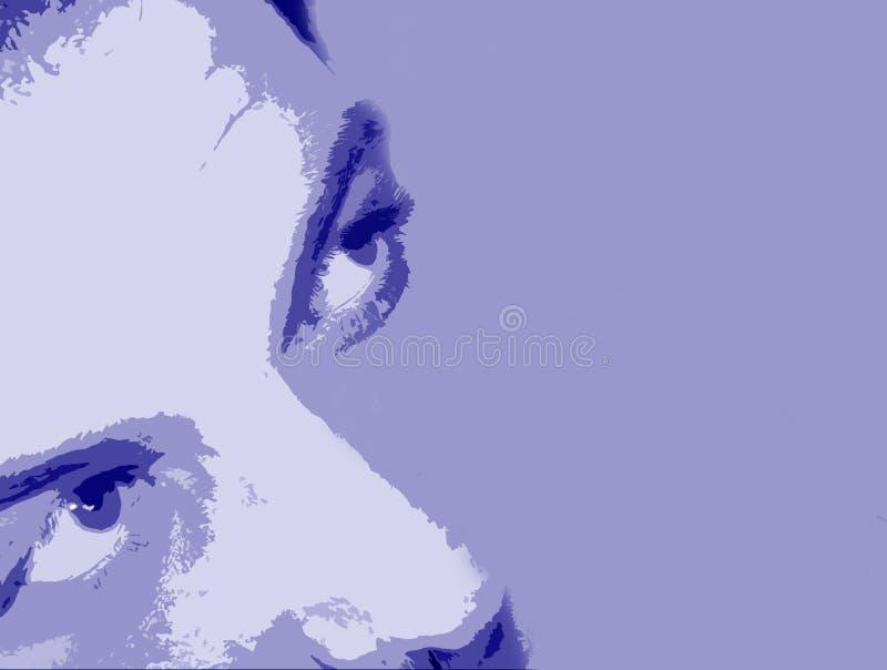 αφηρημένο πρόσωπο ανασκόπησης Στοκ Εικόνες