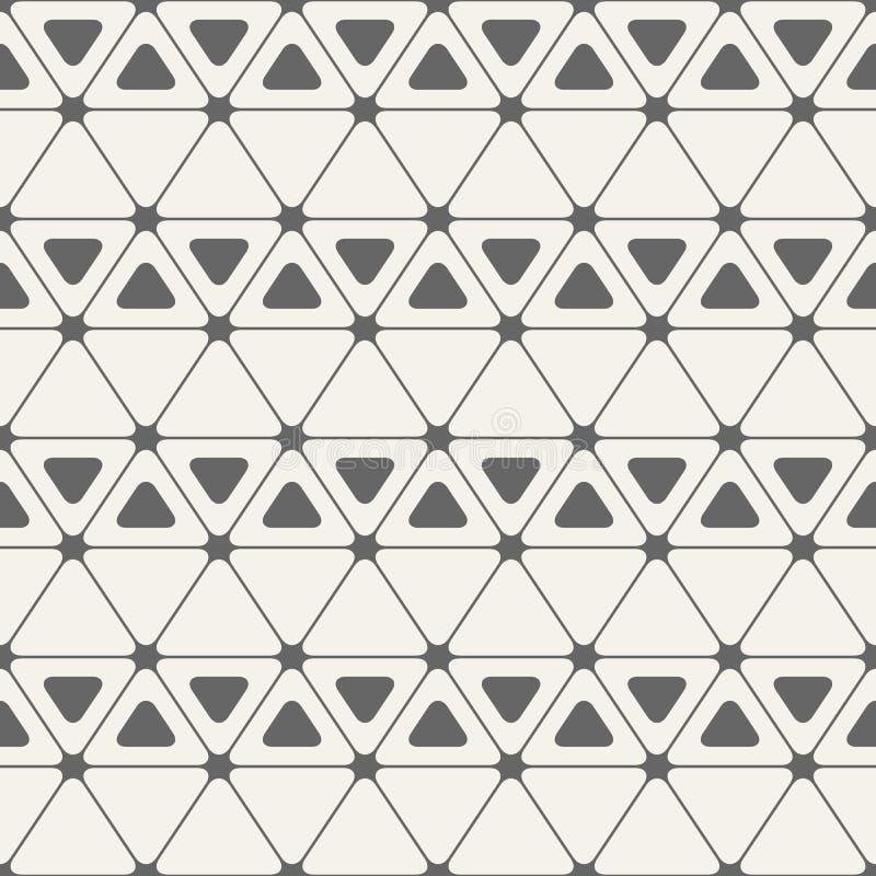 αφηρημένο πρότυπο άνευ ραφή&sig Τρίγωνα με τις στρογγυλευμένες γωνίες διανυσματική απεικόνιση