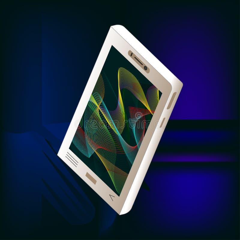 Αφηρημένο πρότυπο ή υπόβαθρο smartphone νέου isometric ελεύθερη απεικόνιση δικαιώματος