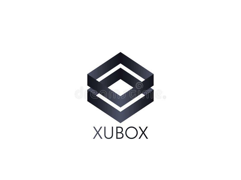 αφηρημένο πρότυπο εικονιδίων λογότυπων κύβων κιβωτίων blockchain και τεχνολογία ελεύθερη απεικόνιση δικαιώματος