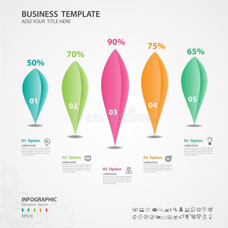 Αφηρημένο πρότυπο επιλογών αριθμού infographics, διάγραμμα, γραφική παράσταση, διάγραμμα, διάνυσμα υπόδειξης ως προς το χρόνο διανυσματική απεικόνιση