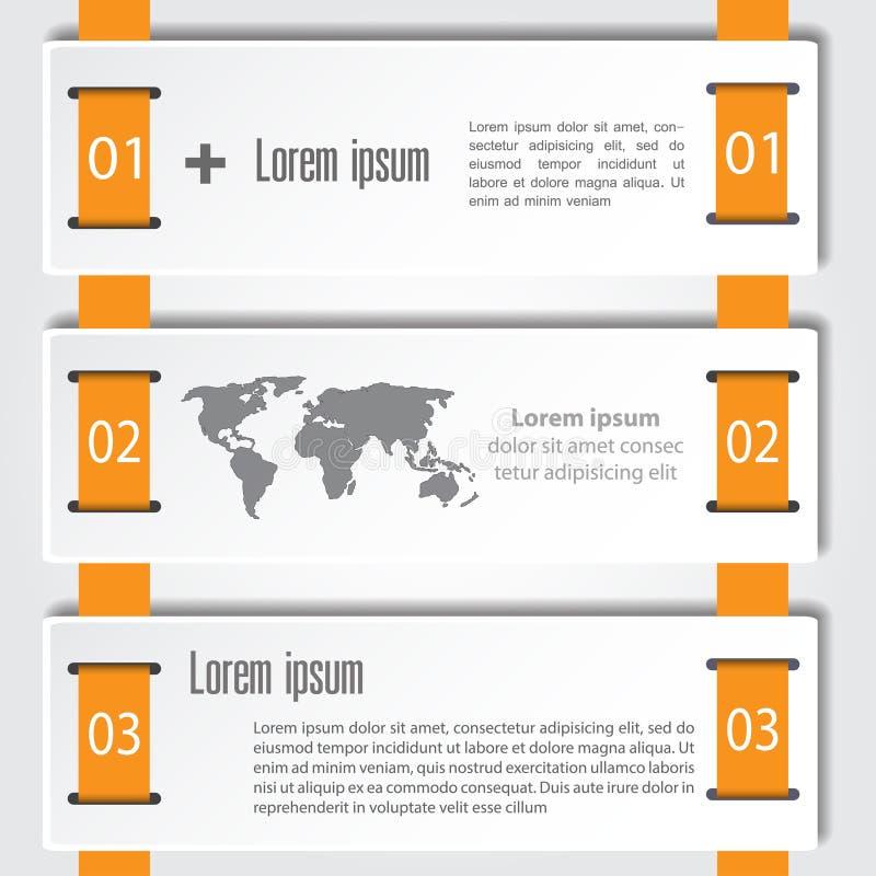 Αφηρημένο πρότυπο επιλογών αριθμού infographics επίσης corel σύρετε το διάνυσμα απεικόνισης μπορέστε να χρησιμοποιηθείτε για το σ διανυσματική απεικόνιση