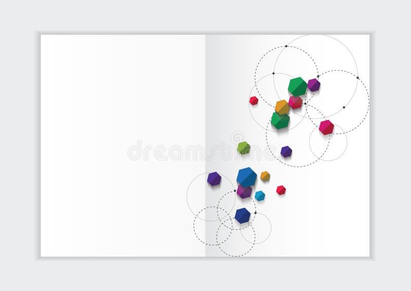 Αφηρημένο πρότυπο ετήσια εκθέσεων υποβάθρου, γεωμετρική κάλυψη επιχειρησιακών φυλλάδιων σχεδίου τριγώνων στοκ εικόνα